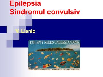 Epilepsia, sdr. convulsiv [usmf]