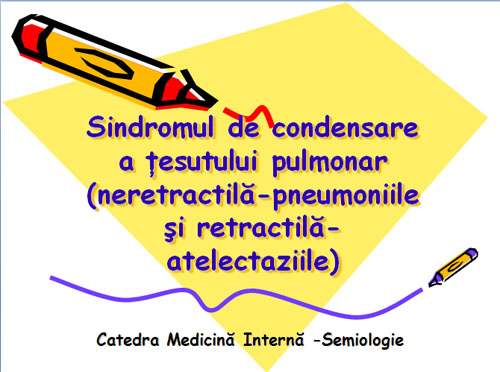 Sdr. de condensare a tesutului pulmonar [usmf]